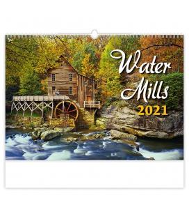 Wall calendar Water Mills 2021