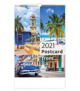 Wall calendar Postcard from.... 2021