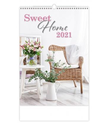 Wall calendar Sweet Home 2021