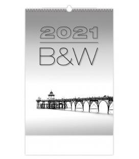 Wall calendar B & W 2021