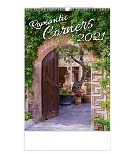 Wall calendar Romantic Corners 2021