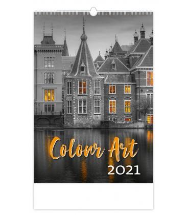 Wall calendar Colour Art 2021