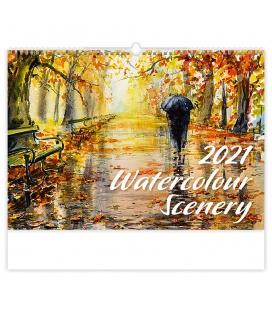 Wall calendar Watercolour Scenery 2021