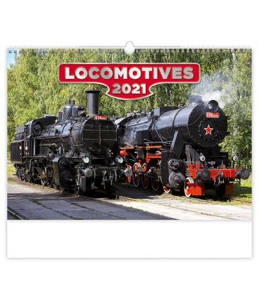 Wall calendar Locomotives 2021