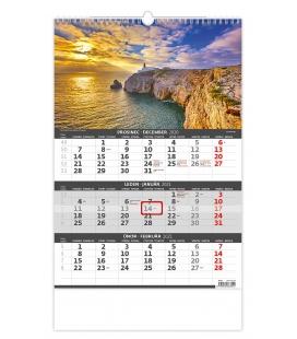 Wall calendar Coast -3 monthly / Pobřeží - 3měsíční/Pobrežie - 3mesačný 2021