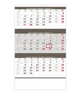 Wall calendar Grey 3 monthly / Tříměsíční šedý 2021