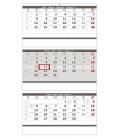 Wall calendar Grey 3 monthly - folded / Tříměsíční skládaný šedý 2021