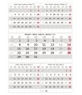 Wall calendar Grey 5 monthly / Pětiměsíční šedý 2021