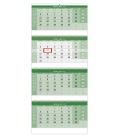 Wall calendar Green 4 monthly - folded  / Čtyřměsíční GREEN/Štvormesačný GREEN 2021