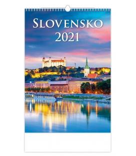Wall calendar Slovensko 2021