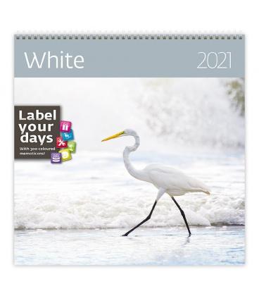 Wall calendar White 2021