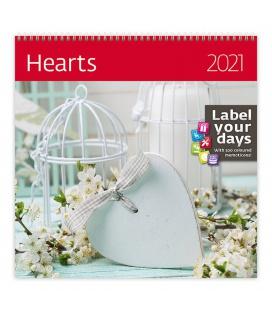 Wall calendar Hearts 2021
