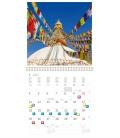 Wall calendar Travelling 2021
