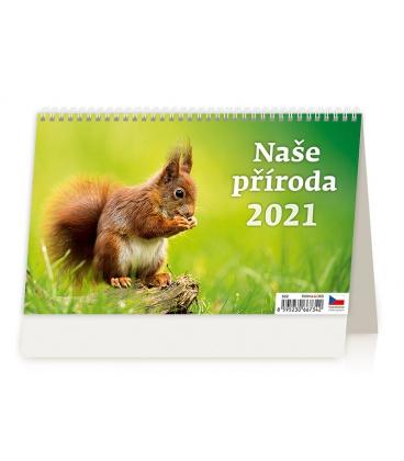 Table calendar Naše příroda 2021