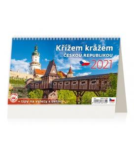 Table calendar Křížem krážem Českou republikou 2021