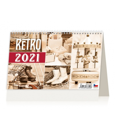 Table calendar Retro 2021
