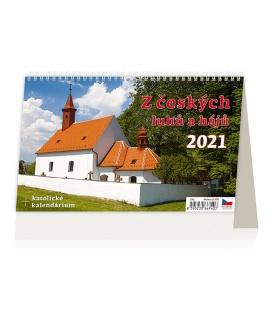 Table calendar Z český luhů a hájů 2021