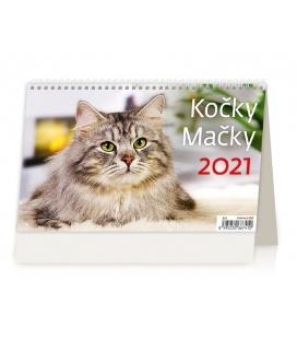 Table calendar Kočky/Mačky 2021