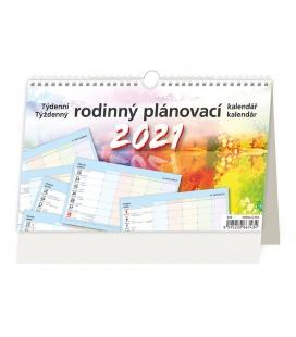 Table calendar Týdenní rodinný plánovací kalendář 2021