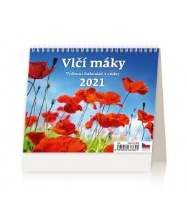 Table calendar Vlčí máky 2021