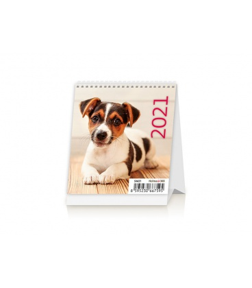 Table calendar Mini Puppies 2021