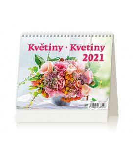 Table calendar MiniMax Květiny/Kvetiny 2021