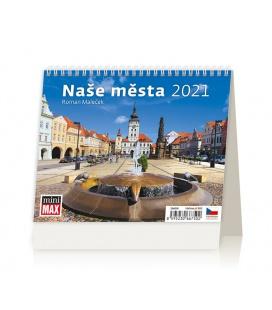 Table calendar MiniMax Naše města 2021
