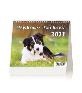 Table calendar MiniMax Pejskové/Psíčkovia 2021