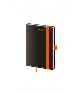 Weekly Pocket Diary Black Orange s poutkem na propisku black, orange 2021