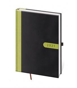 Daily Diary A5 Bora black, green 2021