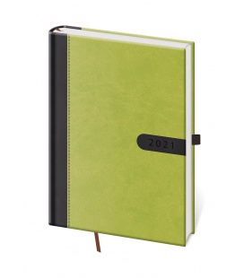 Daily Diary A5 Bora green, black 2021