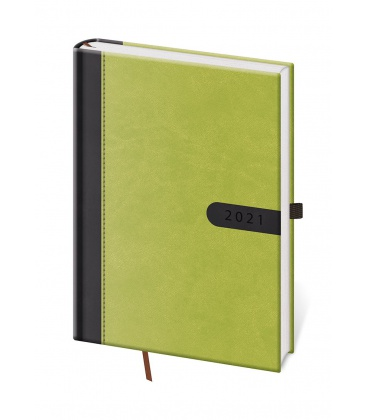 Daily Diary A5 Bora green, black 2021
