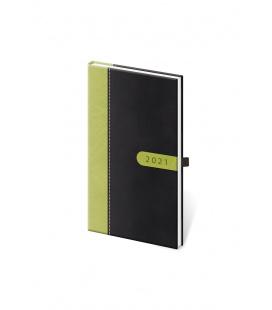 Weekly Pocket Diary Bora black, green 2021