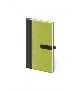 Weekly Pocket Diary Bora green, black 2021