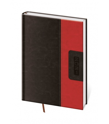 Daily Diary A5 Classic black, red 2021