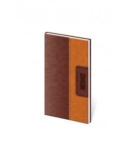 Weekly Pocket Diary Classic brown, brown 2021