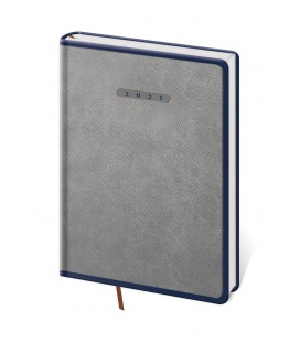 Daily Diary A5 Elegant grey, blue 2021