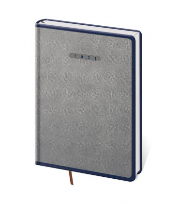 Daily Diary A5 Elegant grey, blue 2021