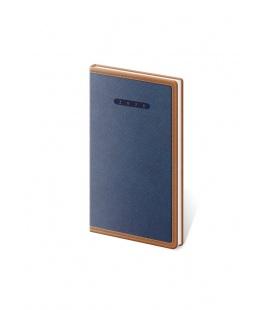 Weekly Pocket Diary Elegant blue, brown 2021
