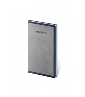 Weekly Pocket Diary Elegant grey, blue 2021