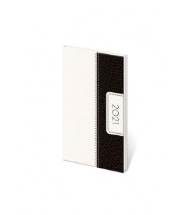 Weekly Pocket Diary Erie white, black 2021