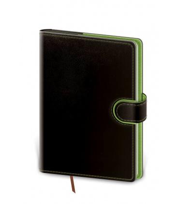 Daily Diary A5 Flip black, green 2021