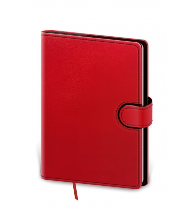Daily Diary A5 Flip red, black 2021