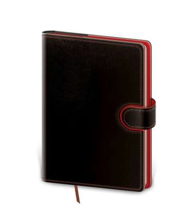 Daily Diary B6 Flip black, red 2021