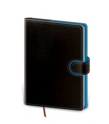 Daily Diary B6 Flip black, blue 2021