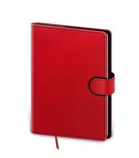 Weekly Pocket Diary Flip red, black 2021