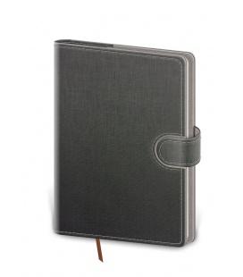 Weekly Pocket Diary Flip grey, grey 2021
