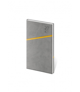Weekly Pocket Diary Grife grey, orange 2021