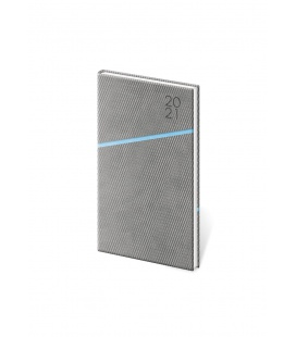 Weekly Pocket Diary Grife grey, blue 2021