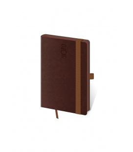 Weekly Pocket Diary Memory s gumičkou brown 2021